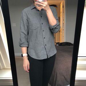 Madewell Flannel Shirt _ Gray XXS